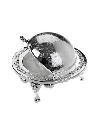 Porio Gümüş-Cam Tereyağlık 14X12 Renkli